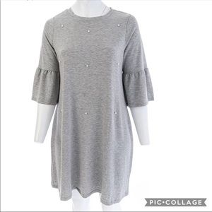 Lane Bryant Fall Jersy Dress with Pearls 22/24